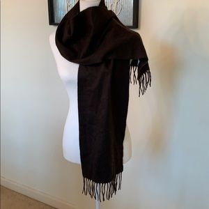 100% Cashmere Scarf 10x62 inches chocolate brown